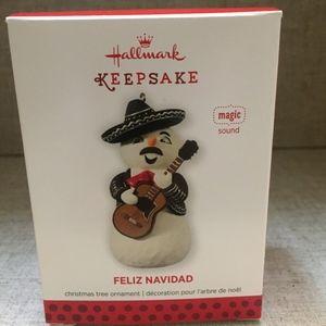 "Hallmark ""Magic Sound"" Mariachi Snowman Ornament"